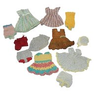 """Vintage Crocheted Doll Outfits for 8"""" Dolls"""