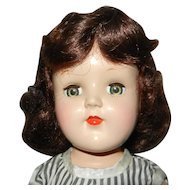 "Very Pretty 1950's 16"" Ideal P-91 Brunette Strung Toni Doll"