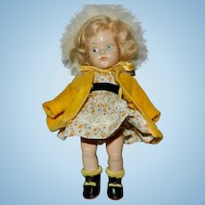 Darling Early 1950's Vogue Painted Eye Ginny Doll