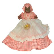 "Cute 18"" African-American Shelf Sitter or Toaster Cover Mammy Doll"