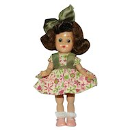 Very Cute 1950's Bent Knee Walker Ginny Doll in Kinder Crowd Outfit