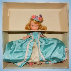 """Early 1940's Nancy Ann Storybook Jointed Leg Bisque Doll """" Thursday's  Child Has Far to Go"""""""