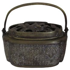 Chinese Brass Incense Burner 19th C