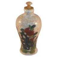 Snuff Bottle.  Chinese Porcelain.  Circa 1900.