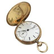 Jaques Roulet, 14k Gold, Hunter Case Pocket Watch, Swiss, Somersworth, NJ