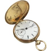 Jaques Roulet, 14k Gold, Hunter Case Pocket Watch, Swiss, Somersworth, NJ