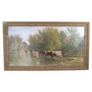 Thomas Corwin Lindsay (1839-1907) Original Oil on Canvas