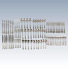 Gorham Melrose Service for 12 Sterling Silver Flatware Set