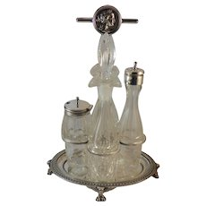 Gorham Medallion Cruet Set
