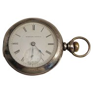 Hampden Coin Silver Pocket Watch 19th C