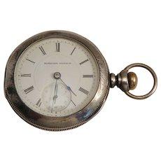 Hampden Coin Silver Pocket Watch 19th C