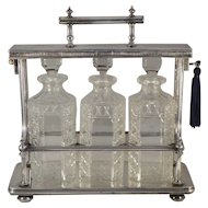 English Victorian Locking Tantalus Set
