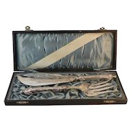 German 800 Silver Fish Serving Set