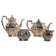 English Sterling Tea and Coffee Set 1910