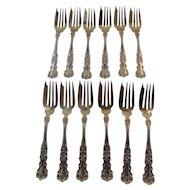 12 salad forks.  Gorham Buttercup