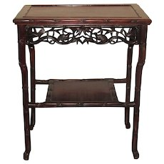 Chinese Rosewood Side Table.  Qing Dynasty.