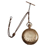 Victorian 14k Yellow Gold Waltham Hunter Case Pocket Watch 1898