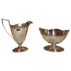 Gorham Sterling Silver Cream Jug & Waste Bowl. Early 20th Century.