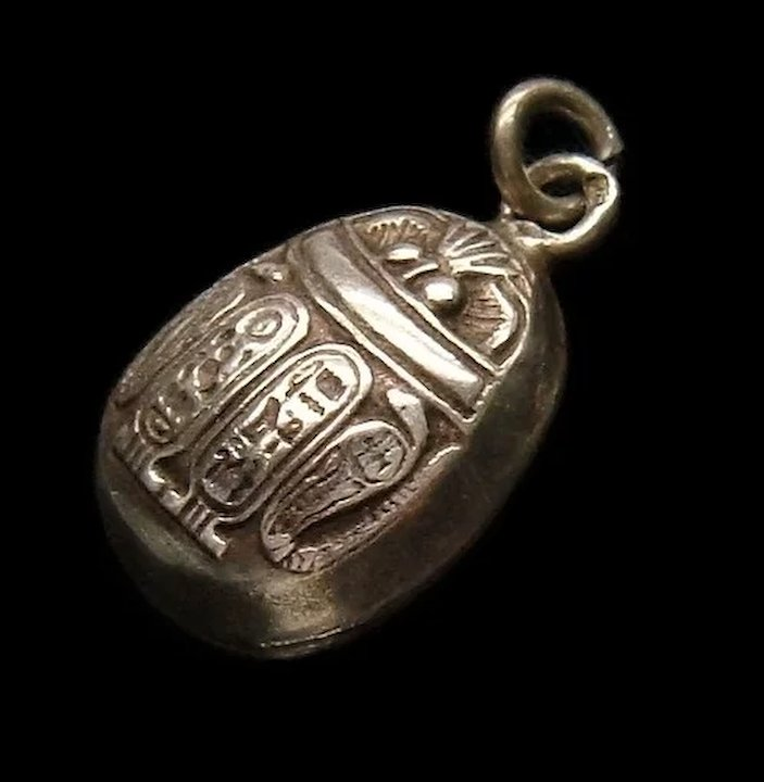 Art deco egyptian revival sterling silver scarab beetle pendant sold art deco egyptian revival sterling silver scarab beetle pendant aloadofball Gallery