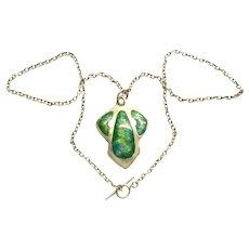 Antique Art Nouveau Henry Williamson Enamel Silver Pendant Chain Necklace Fine Jewelry English
