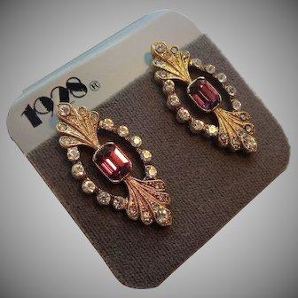 1928 Brad Faux Gemstone Necklace & Earring Set