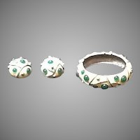 VIntage Lanvin Demi Parure:  Bracelet and Earrings