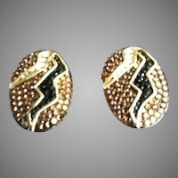 Pair of Judith Leiber Striking Fur Clips (Pins) with Swarvoski Crystals