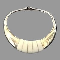 VIntage Ciner Rigid Collar Necklace with Enameling