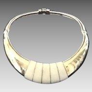VIntage Ciner Rigid Collar Necklace with Enameling