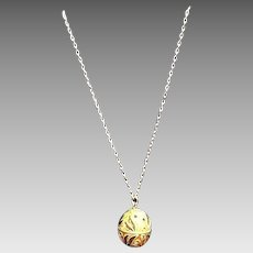 "VIntage Bejeweled and Enameled CINER ""Egg"" Necklace"