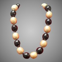 Vintage Lagerfeld Faux Pearl Choker Necklace
