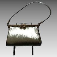 Vintage Rosenfeld Leather Evening Bag with Decorative Clasp MINT
