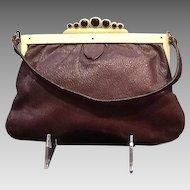"VIntage ""Art Deco"" Handbag with Unusual Celluloid Frame"