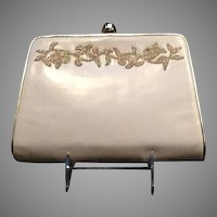 VIntage Escada Leather Clutch Bag with Decoration ***A Bride's Delight