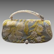 Vintage Nettie Rosenstein Baguette Purse with Chenille Design