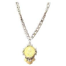 VIntage Pauline Rader Statement Necklace with Coins