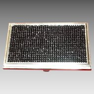 Vintage Judith Leiber Business Card Holder with Swarovski Crystals