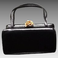 Vintage Petite Saffian Leather Handbag by Morris Moskowitz