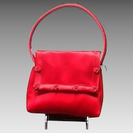 "Vintage ""Revivals"" Red Satin Handbag ""MINT: NEW WITH TAGS"""