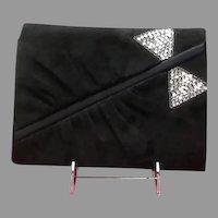 "Vintage Valentino Garavani Suede ""Night"" Evening Bag with Sequins"