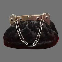 Vintage Koret Cut Velvet Purse with Jeweled Frame