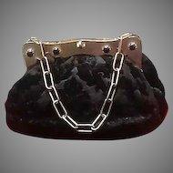 Vintage Koret Cut Velvet Purse with Jeweled Frame