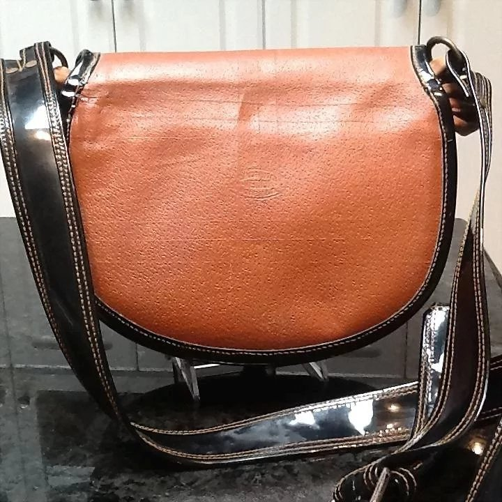 Vintage Jerico Carriel Satchel Style Handbag Patent Leather And Hair Click To Expand