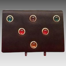 Vintage Paloma Picasso Silk Purse with Cabochons