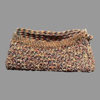 Vintage Multi-Colored Corde Handbag with Lucite Chain