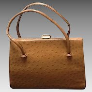 "Vintage Ostrich ""Kelly"" Bag by Waldybag"