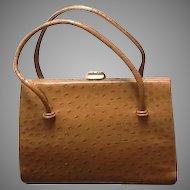 "Vintage Ostrich ""Kelly"" Bag by Waldybag"