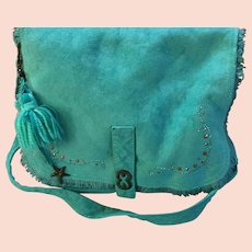"""Vintage Escada """"Bohemian"""" """"Funky"""" Statement Messenger Bag with Jewels"""