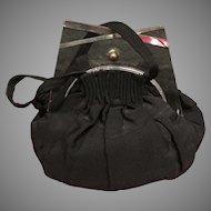 VIntage Mini Faille Handbag with Lucite Frame