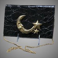 Vintage Glenn Miller for Ann Turk Embossed Handbag with Celestial Theme